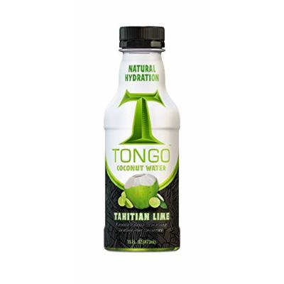 Tongo Coconut Water, Tahitian Lime, 16-Ounce (Pack of 12)