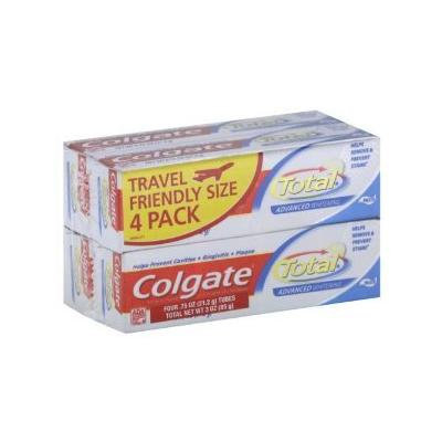 Colgate Toothpaste, Anticavity Fluoride and Antigingivitis, Advanced Whitening, Paste 8 - 0.75 oz tubes (PACK OF 2 - 4 PACKS OF TRAVEL SIZE TOOTHPASTE) (2)
