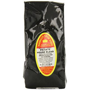 Marshalls Creek Spices Gourmet Decaf. Ground Coffee, Private House Blend.J26:J72 12 Ounce