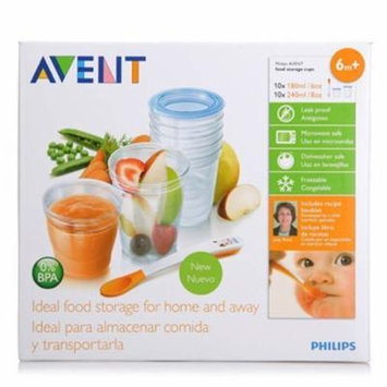 Philips Avent Scf720/10 VIA Baby Food Storage Set (Cups Lids Spoon) Best Quality Original From United Kingdom Fast Shipping