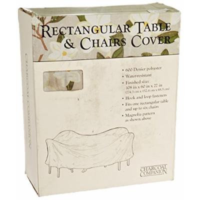Charcoal Companion CC4506 Magnolia 108-Inch by 60-Inch Rectangular Table cover