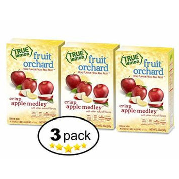 True Lemon , Fruit Orchard , Crisp Apple Medley Drink Mix 7ct (Pack of 3)