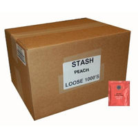 Stash Tea Peach Black Tea, 1000 Tea Bags in 8.58 Pound Box