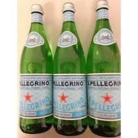 San Pellegrino Sparkling Natural Mineral Water 750ml Glass Bottles Pack of 3