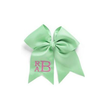 Personalized Hair Bow, Mint, font:classic, color:pink