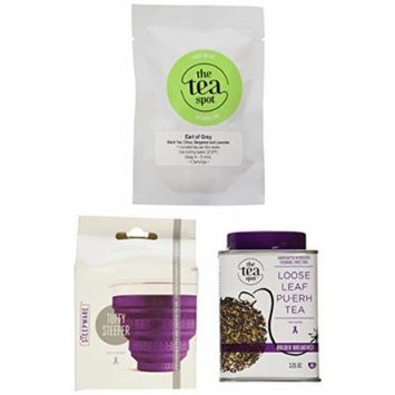 The Tea Spot Bolder Breakfast Tea and Infuser, 0.75-Pound