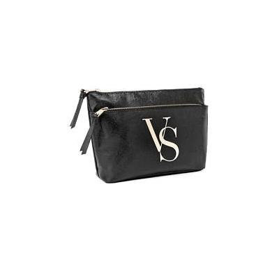 Victoria's Secret VS Double Zip Bag- Black