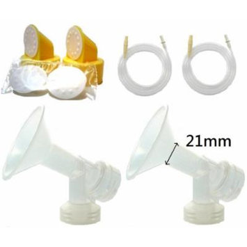 Breast Pump Kit (Breastshield Small, 21mm) for Medela Pump in Style Advanced Breastpump Sold Before July 2006. Include Replacement Tubing for Old Pump In Style Advanced, 2 One-piece Breastshields (Replace Medela Personalfit 21mm and Personalfit...