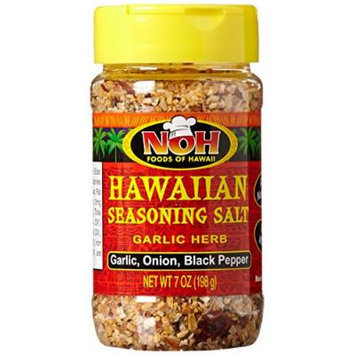 Noh Foods of Hawaii, Hawaiian Seasoning Salt, Garlic Herb, 7 oz