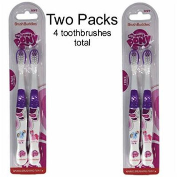 My Little Pony kid's children's soft bristle TOOTHBRUSH set - Rainbow Dash & Pinkie Pie (2 pack = 4 toothbrushes)