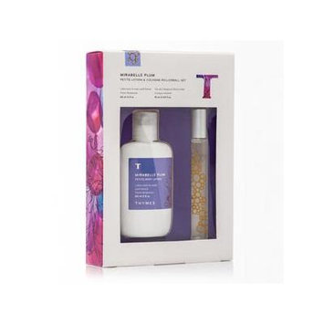 Thymes Mirabelle Plum Petite Lotion 2oz & Cologne Rollerball.34oz Set