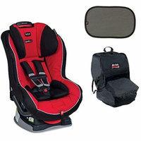 Britax Boulevard G4.1 Convertible Car Seat w Car Seat Travel Bag & 2ct EZ-Cling Sun Shades (Congo)