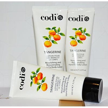 Codi Nourishing and Rejuvenating Hand & Body Lotion 100ml/ 3.3 oz TANGERINE pack of 3 pieces