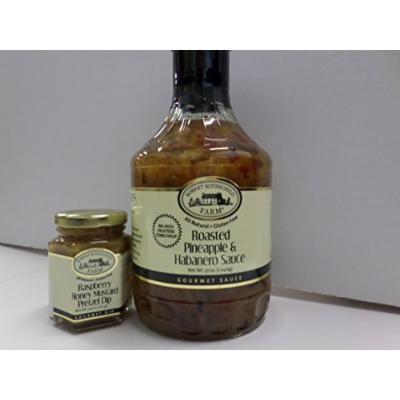 Roasted Pineapple and Habanero 37 Oz. With 4.3 Oz. Raspberry Honey Mustard Pretzel Dip