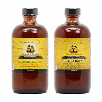 Sunny Isle Jamaican Black Castor Oil 8 oz & Extra Dark Jamaican Black Castor Oil 8 oz