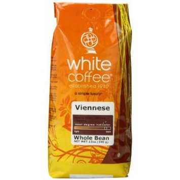 White Coffee Whole Bean Coffee, Viennese, 12 Ounce