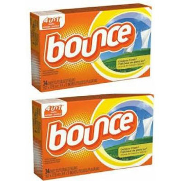 Bounce Dryer Sheets, Outdoor Fresh, 34 Ct-2 Pack