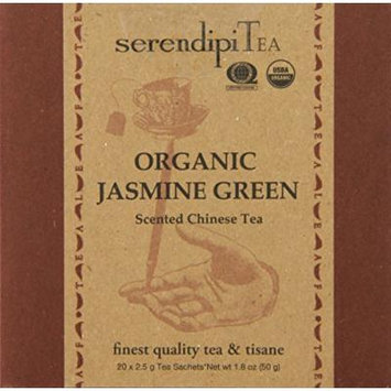 SerendipiTea Organic Tea China Green, 20 Count (Pack of 8)