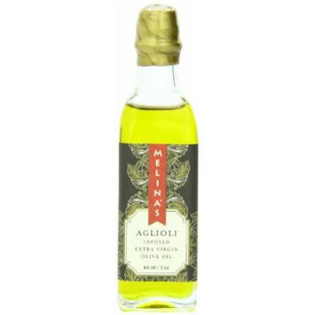 Melina's Extra Virgin Olive Oil, Aglioli Garlic and Rosemary Infused, 2 Ounce