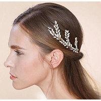 Nero Women's Handmade Bridal Wedding Hair Pins with Metal Wire for Bride & Bridesmaids & Flowergirls (Pack of 3)