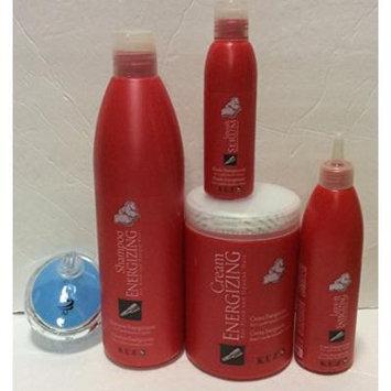 KUZ Bundle: Energizing System Shampoo, Mask, Leave-in Conditioner, Serum and AJ shampoo Brush