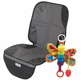Summer Infant Duo Mat Car Seat Protector with Take Along Toy, Firefly