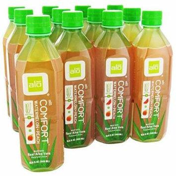 ALO - Original Aloe Drink Comfort Aloe + Watermelon + Peach - 16.9 oz. (Pack of 3)