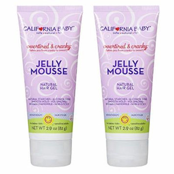 California Baby Overtired & Cranky Jelly Mousse Hair Gel, 2.9 Oz. - 2 Pack