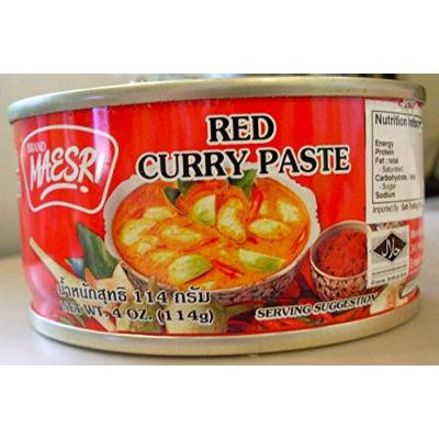 Thai Red Curry Maesri 6 Packs (4 Oz. X 6)