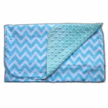 Blue Baby Bum Baby Blanket, Zig Zag, Aqua