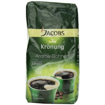 Jacobs Kroenung Aroma-Bohnen (Kroenung Whole Bean Coffee), 17.6-Ounce Vacuum Packs (Pack of 2)