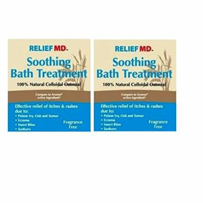 Relief MD Soothing Colloidal Oatmeal Bath Treatment 2 Boxes - 12 Single Use Packets