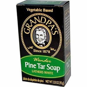 Grandpa's Soap Pine Tar Bar Soap - 3.25 Oz Case Pack of 25
