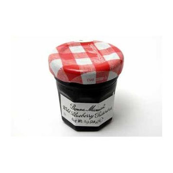 Bonne Maman Wild Blueberry Preserves - Jar (60 Pieces) - Bonne Maman Wild Blueberry Preserves - Jar. 1 Oz Glass Jar. This Is The Perfect Travel Size Preserves To Take On Any Trip.