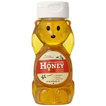Natural American Foods Extra Light Amber Honey Bear, Round, 12 Ounce