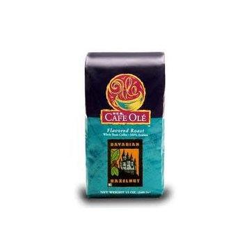 HEB Cafe Ole Whole Bean Coffee 12oz Bag (Pack of 3) (Bavarian Hazelnut - Medium Dark Roast (Full City))