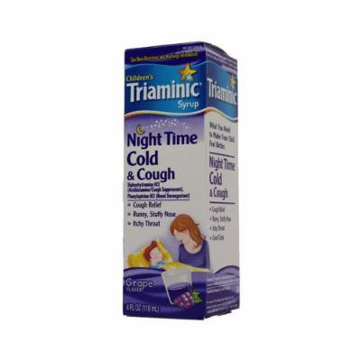 Triaminic Childrens Cold And Cough Night Time Syrup Grape 4 Fl