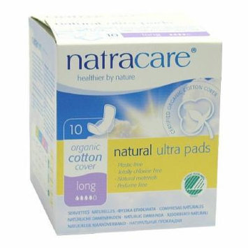 Natracare Natural Ultra Pads with Wings, Long, 10 ea 10 ea
