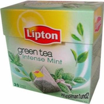 Lipton Green Tea - Intense Mint - Premium Pyramid Tea Bags (20 Count Box) [PACK OF 3]