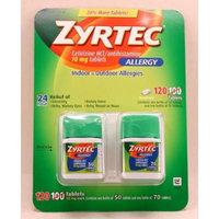 Zyrtec Cetirizine Hcl/Antihistamine (120 Tablets 10mg each)