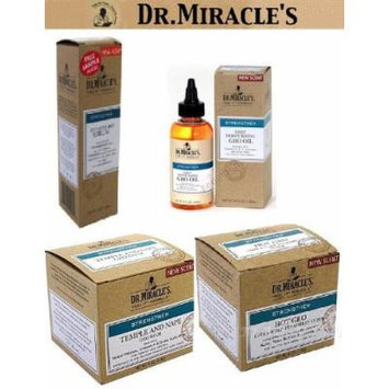 Dr. Miracles Strengthen Super Growth Set (Intensive Spot Serum, Daily Moisturizing Gro Oil, Strengthen Temple And Nape Gro Balm, Hot Gro)