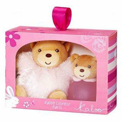 Kaloo Lilirose Gift Set Eau De Senteur Alcohol Free Spray 100ml/3.4 Fl.oz + Maxy Chubby Teddy Fluffy TOY