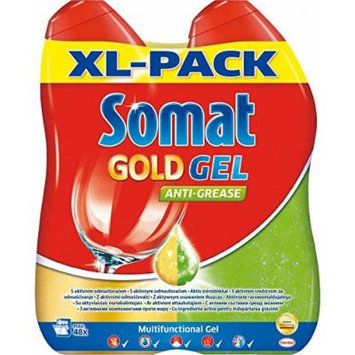 Somat GOLD Gel Dishwasher Detergent - 144 Loads (6 x 600ml)