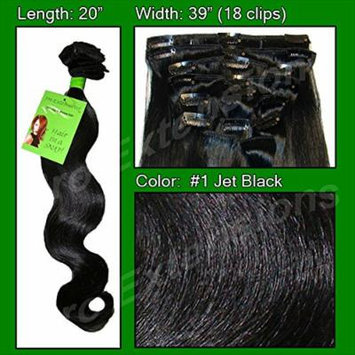 Pro Extensions Hair Extensions #1 Jet Black - 20 inch Body Wave