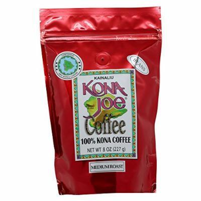 Kona Joe Coffee Kainaliu Medium Roast, Whole Bean, 8-Ounce Bag