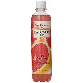 Cascade Ice Sparkling Water, Pink Grapefruit, 17.2 Ounce (Pack of 12)