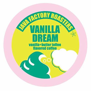 Java Factory Single Cup Coffee for Keurig K Cup Brewers, Vanilla Dream, 24 Count