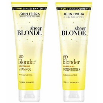John Frieda Sheer Blonde Go Blonder Lightening Shampoo and Conditioner Set