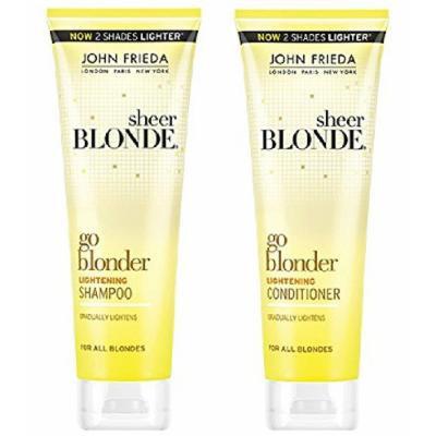 John Frieda Sheer Blonde Go Blonder Lightening Shampoo and Conditioner Set