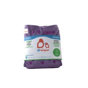 Bamboo Cloth Diapers - Solids (Purple)